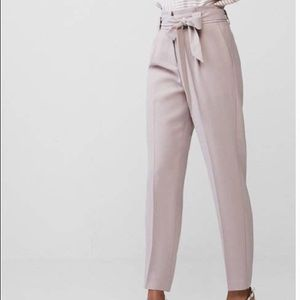 Lavender Express High Waisted Sash Tie Pants